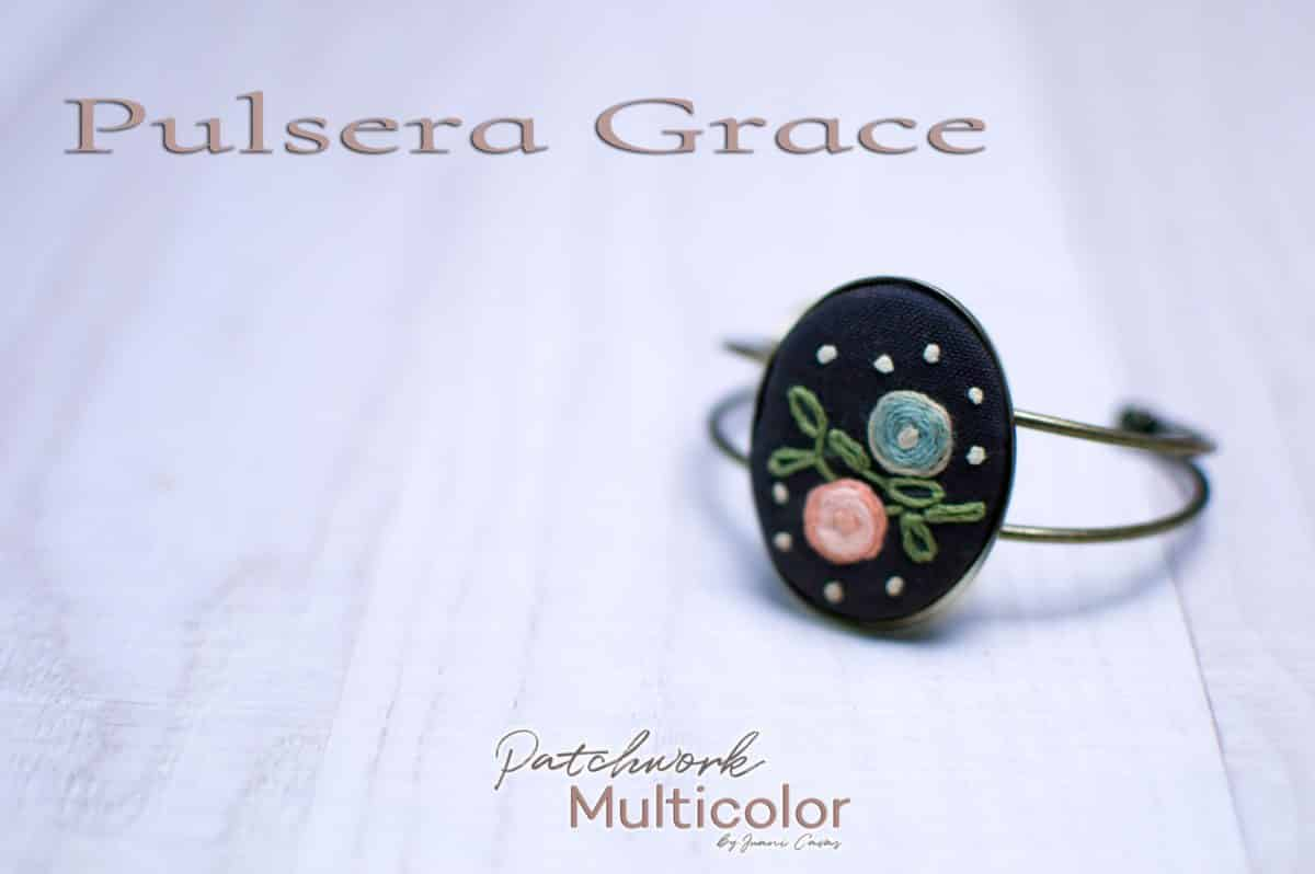Pulsera bordada Grace Patchwork Multicolor
