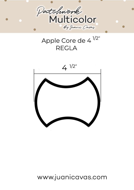 Regla Apple Core 2 tres cuartos de pulgada