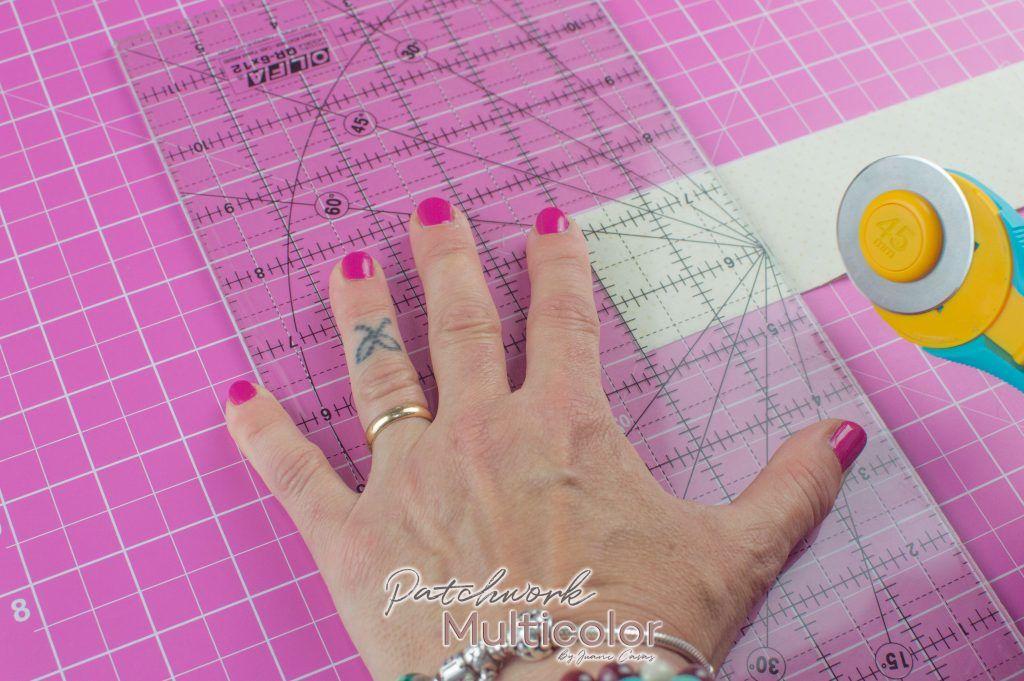 usar cutter cortar tela