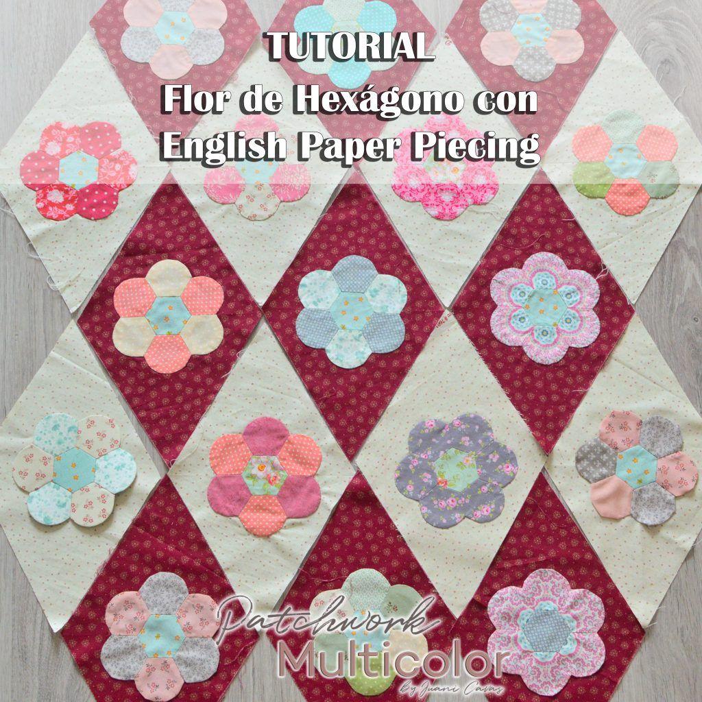 tutorial flor de patchwork
