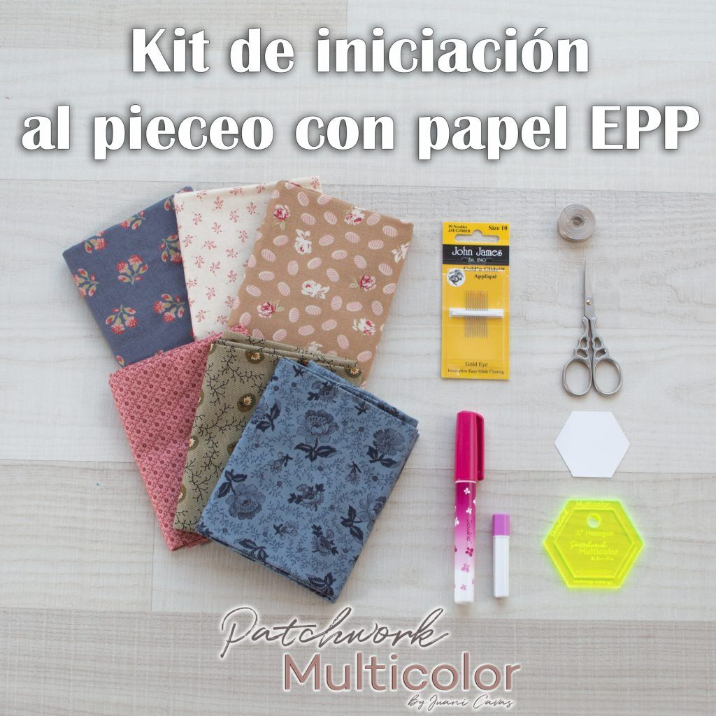 English Paper Piecing Kit de Iniciación