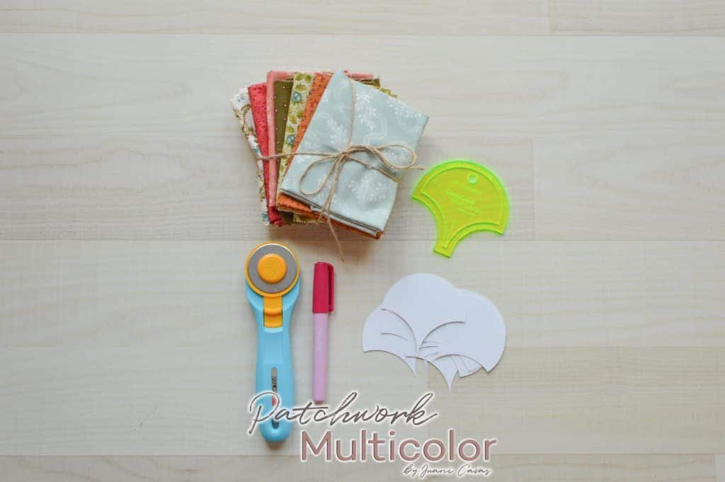 materiales clamshell de patchwork