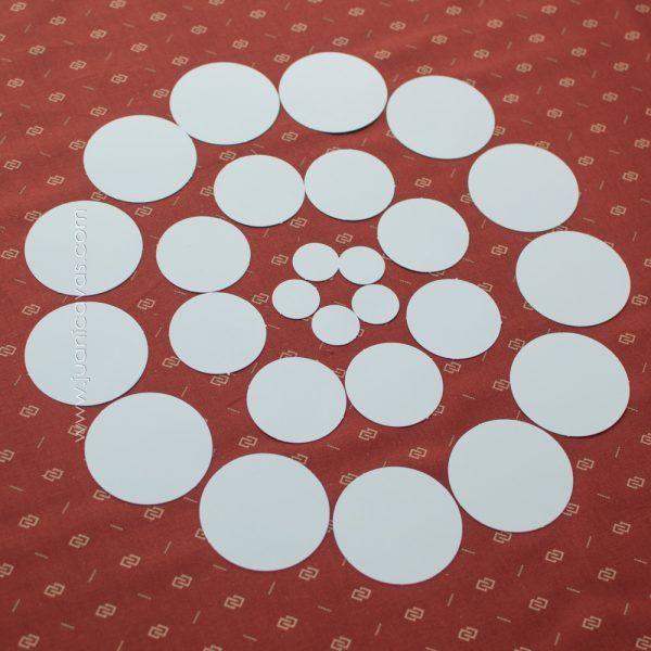 piezas precortadas de círculos