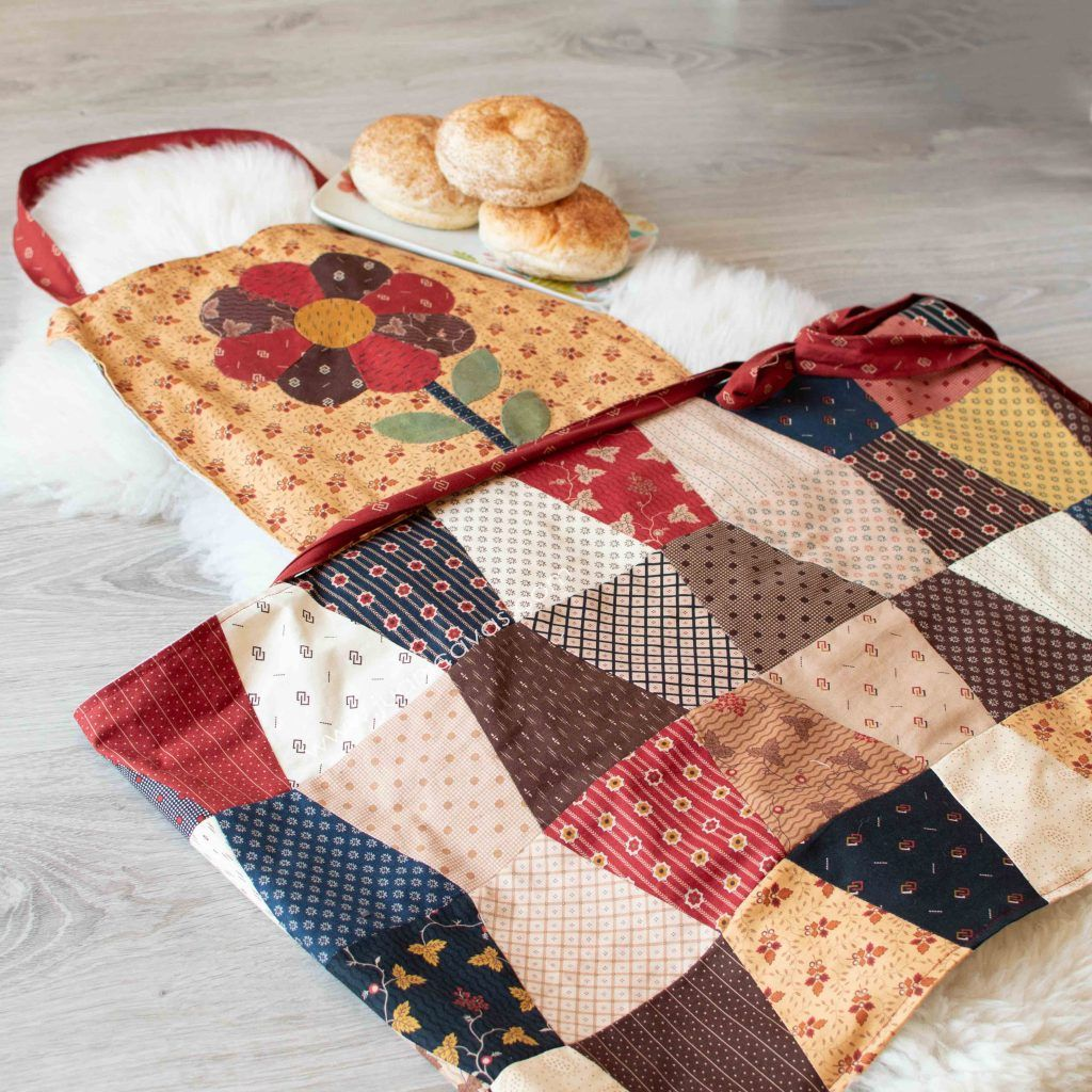 Kit de delantal en patchwork