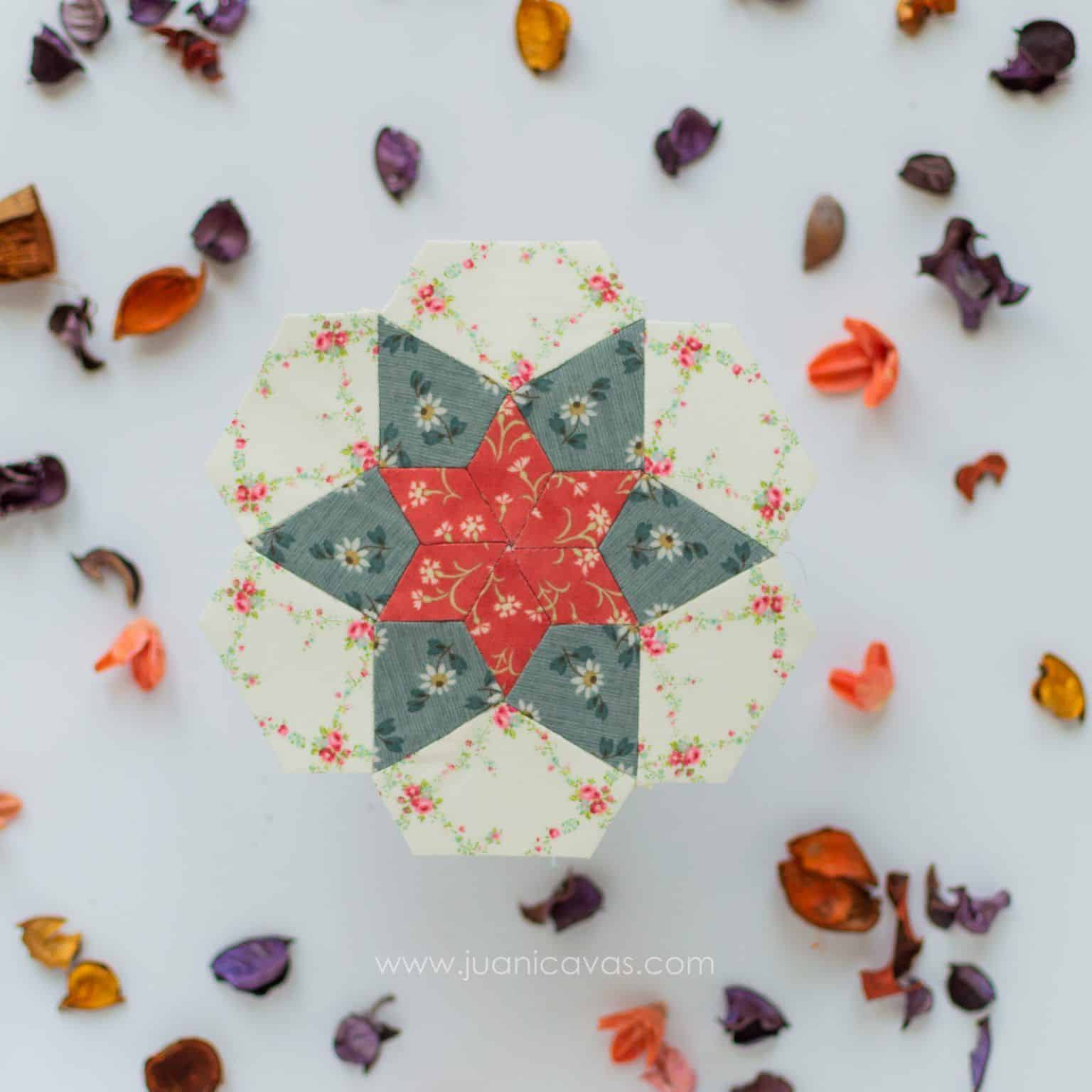 Chocolate de naranja patchwork quilt kit rosetas-2
