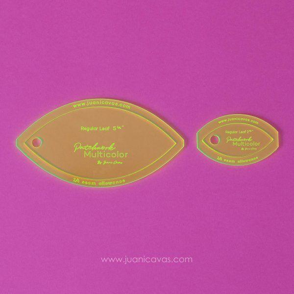 Regla para patchwork con forma de hoja orange peel