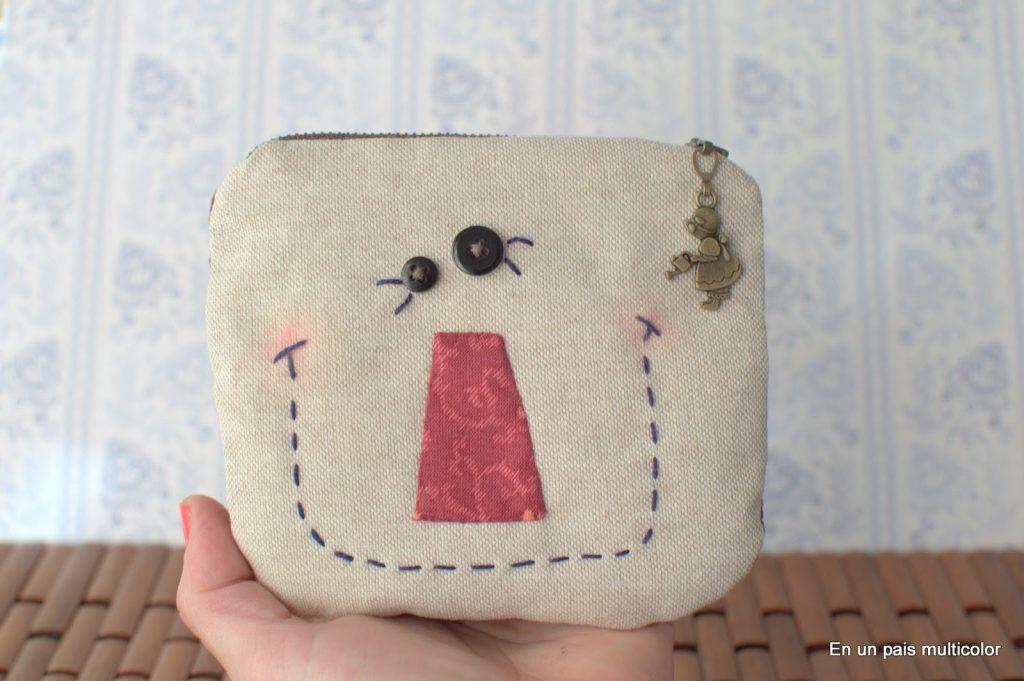 monedero de patchwork para niños