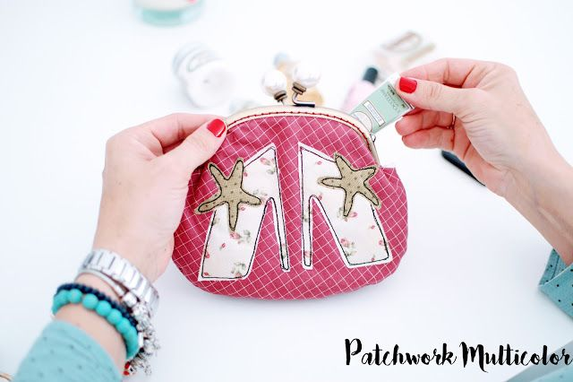 monedero de patchwork chic