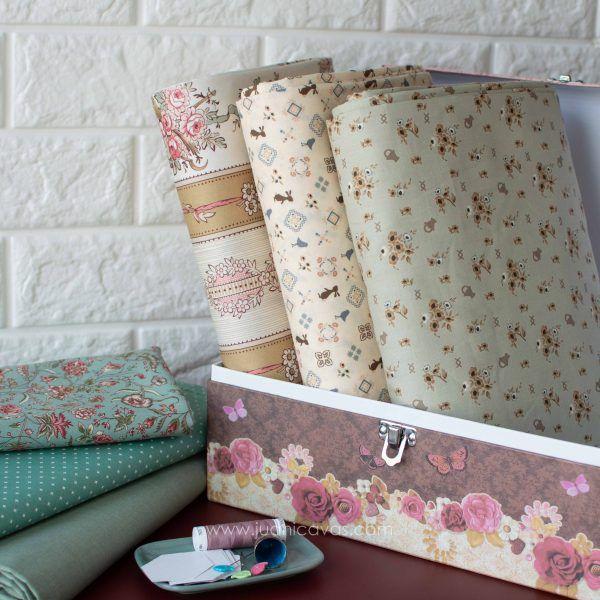 kit de telas sewing box para patchwork-3-2 Telas para Patchwork