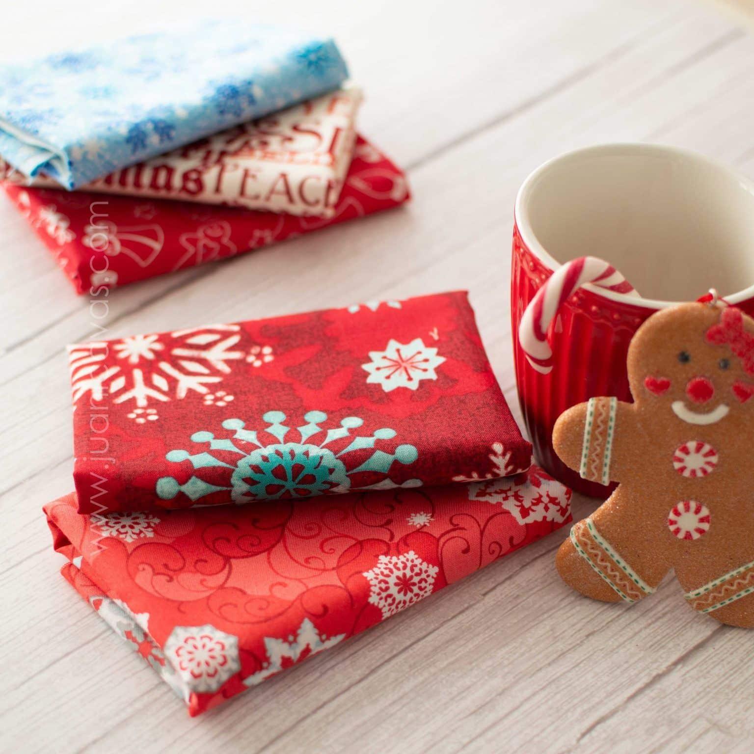 tela de navidad de patchwork