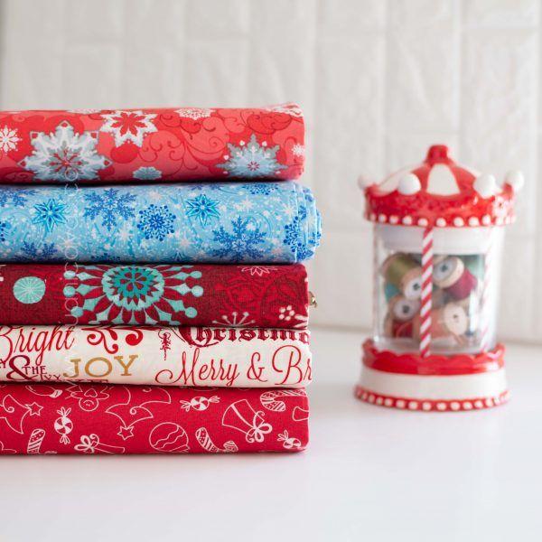 telas de navidad colección candy cane