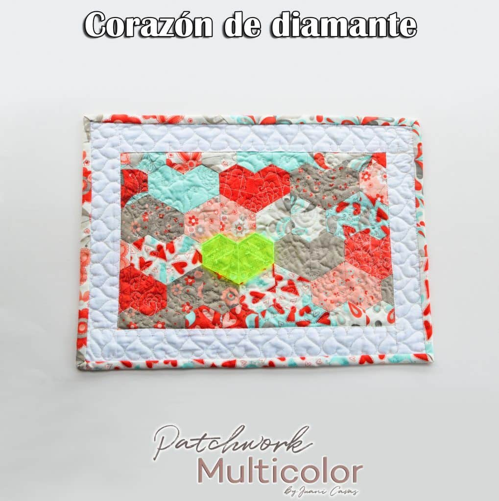 tapiz de diamantes patchwork