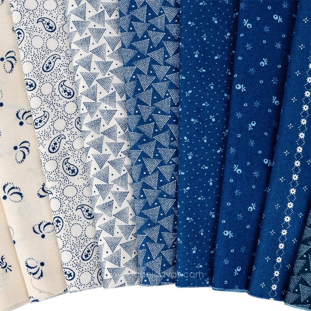 precortados moda fabrics Indigo Gathering Jelly Roll Charm pack