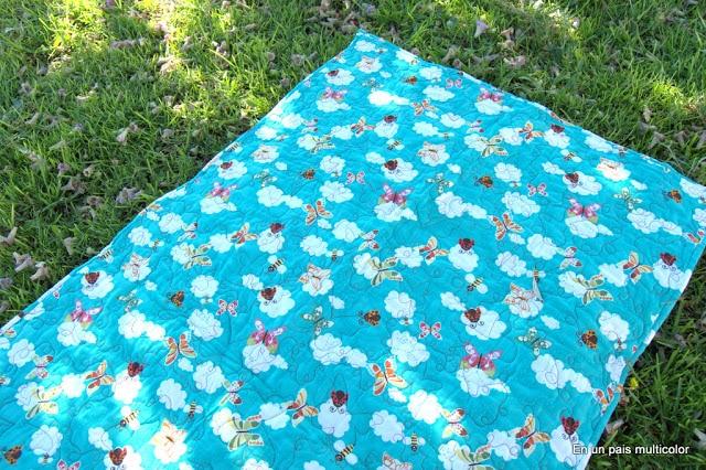 colcha patchwork cuna