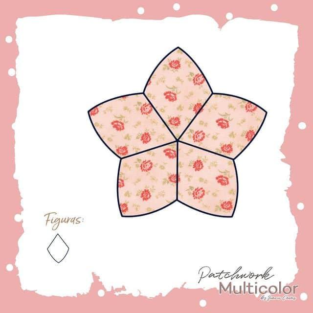 flor de patchwork rombo